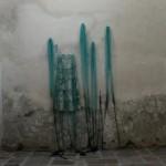 Distanza di timidezza Shyness distance/Heliotropism 2014 Installazione  Site Specific, Chiesa dei Cappuccini, Chiavenna (Sondrio) cera, silicone, polvere di vetro, tessuto, lana, ceramica dimensioni variabili Site Specific Installation, Chiesa dei Cappuccini, Chiavenna (Sondrio), Italy wax, silicon rubber, glass powder, wool, ceramic variable dimensions